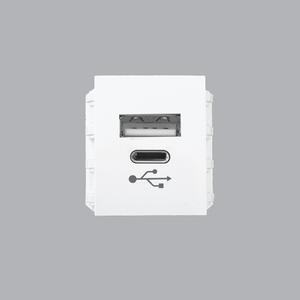 Ổ cắm sạc USB DC 5V- 2.1A - A6USB-A/C