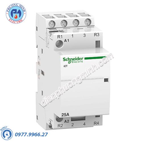 Contactor iCT 4P, coil voltage 24VAC, 25A 4NO - Model A9C20134