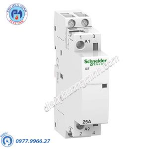 Contactor iCT 2P, coil voltage 230/240VAC, 25A 2NC - Model A9C20736