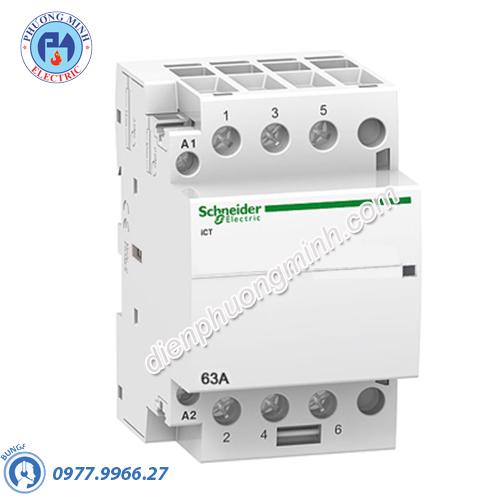 Contactor iCT 3P, coil voltage 230/240VAC, 63A 3NO - Model A9C20863