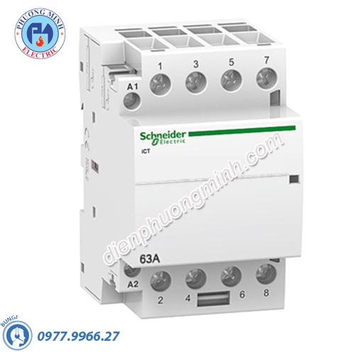 Contactor iCT 4P, coil voltage 230/240VAC, 63A 4NC - Model A9C20867