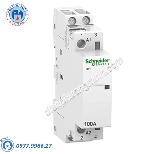 Contactor iCT 2P, coil voltage 230/240VAC, 100A 2NO - Model A9C20882