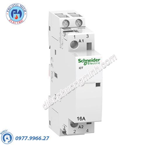 Contactor iCT 2P, coil voltage 230/240VAC, 16A 2NO - Model A9C22712