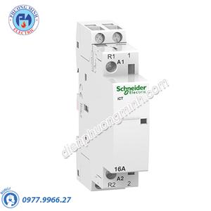 Contactor iCT 2P, coil voltage 230/240VAC, 16A 1NO+1NC - Model A9C22715