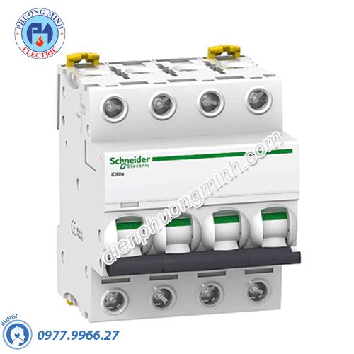 Acti9 iC60H MCB 4P 25A 15kA - Model A9F84425