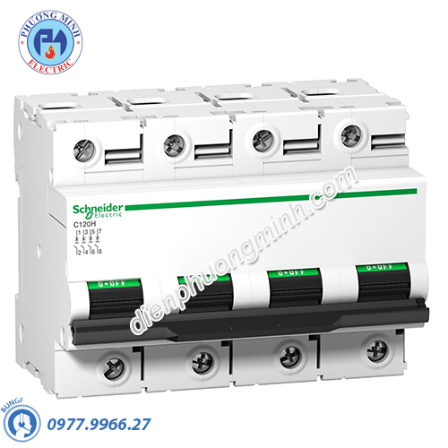 Acti9 C120H MCB 4P 100A 15kA - Model A9N18480