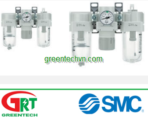 Compressed air filter-regulator-lubricator 0.5 MPa   AC series   SMC Vietnam   SMC Thiết bị