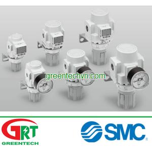 Air pressure regulator / piston / single-stage / precision 1/8 - 1/2, 0.005 - 0.6 MPa | ARP series