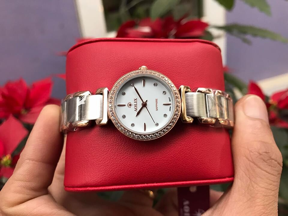 Đồng hồ lắc nữ chính hãng Aolix AL 1035L-skrt