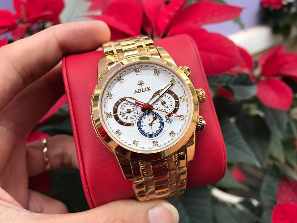 Đồng hồ nam chính hãng Aolix al 7049g - mkt
