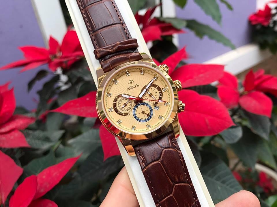 Đồng hồ nam chính hãng Aolix al 7049g - mlkv