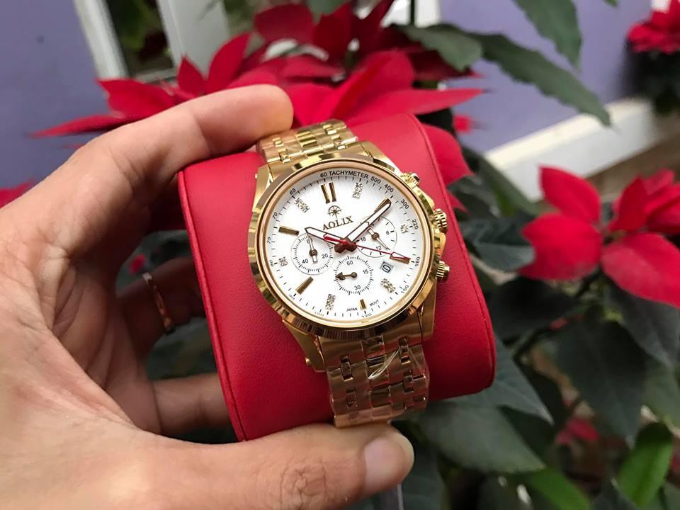 đồng hồ nam chính hãng aolix al 7050g - mkt