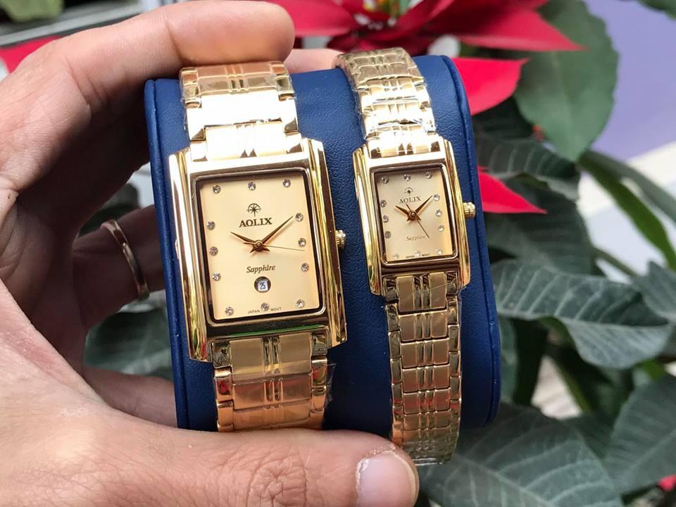 Đồng hồ cặp đôi chính hãng Aolix al 9046 - mkv