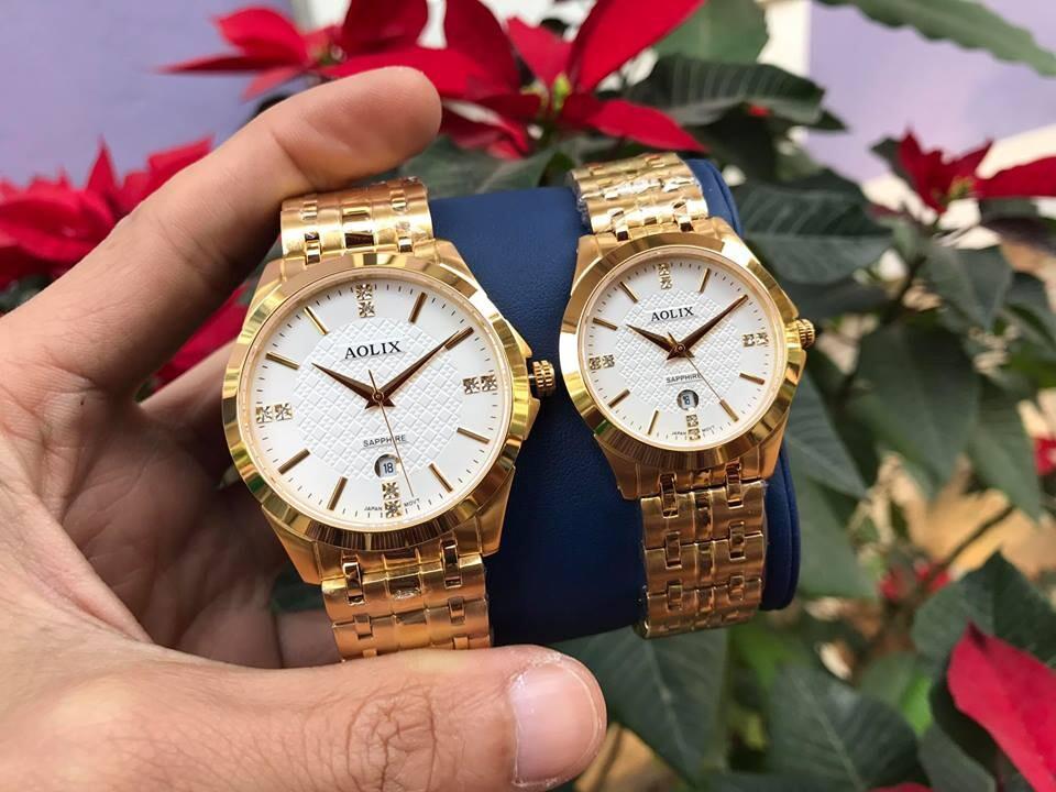 đồng hồ cặp đôi chính hãng aolix al 9123 - mkt | hieutin.com