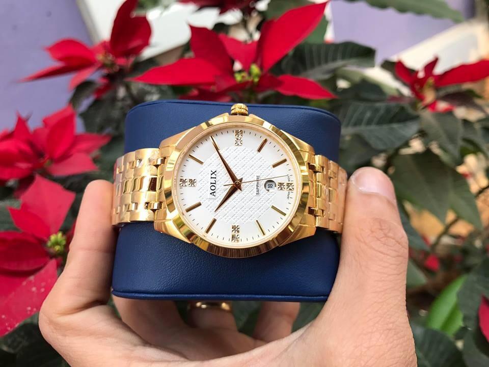 Đồng hồ cặp đôi chính hãng aolix al 9123 - mkt