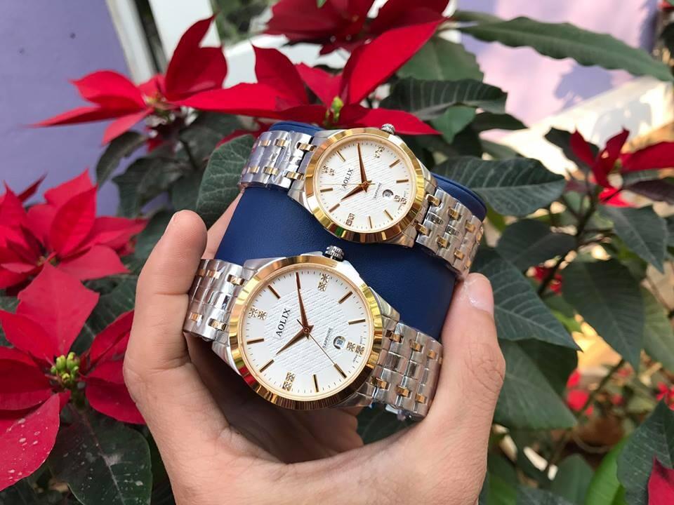 Đồng hồ cặp đôi chính hãng aolix al 9123 - mskt