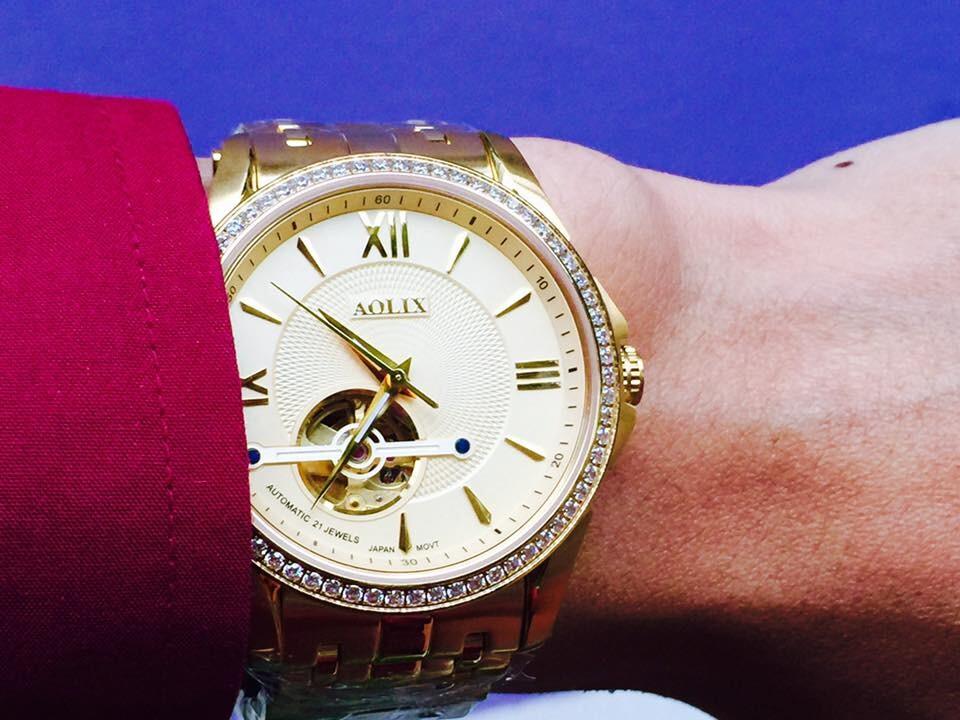 Đồng hồ nam tự động chính hãng Aolix al 3017g - mkv