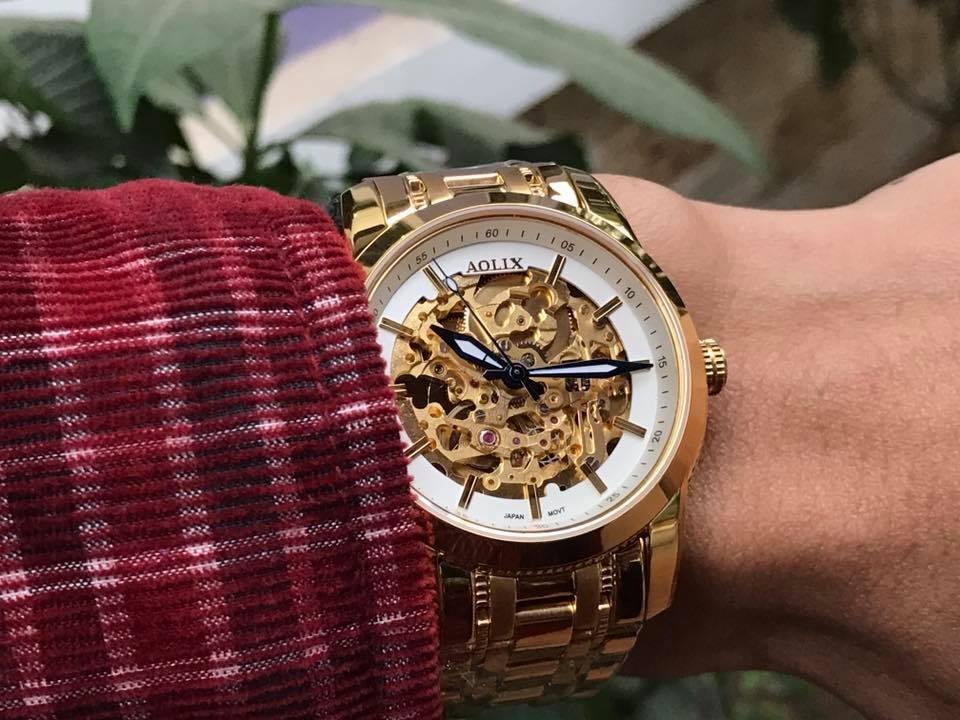 đồng hồ nam tự động chính hãng aolix al 3021m - mkt
