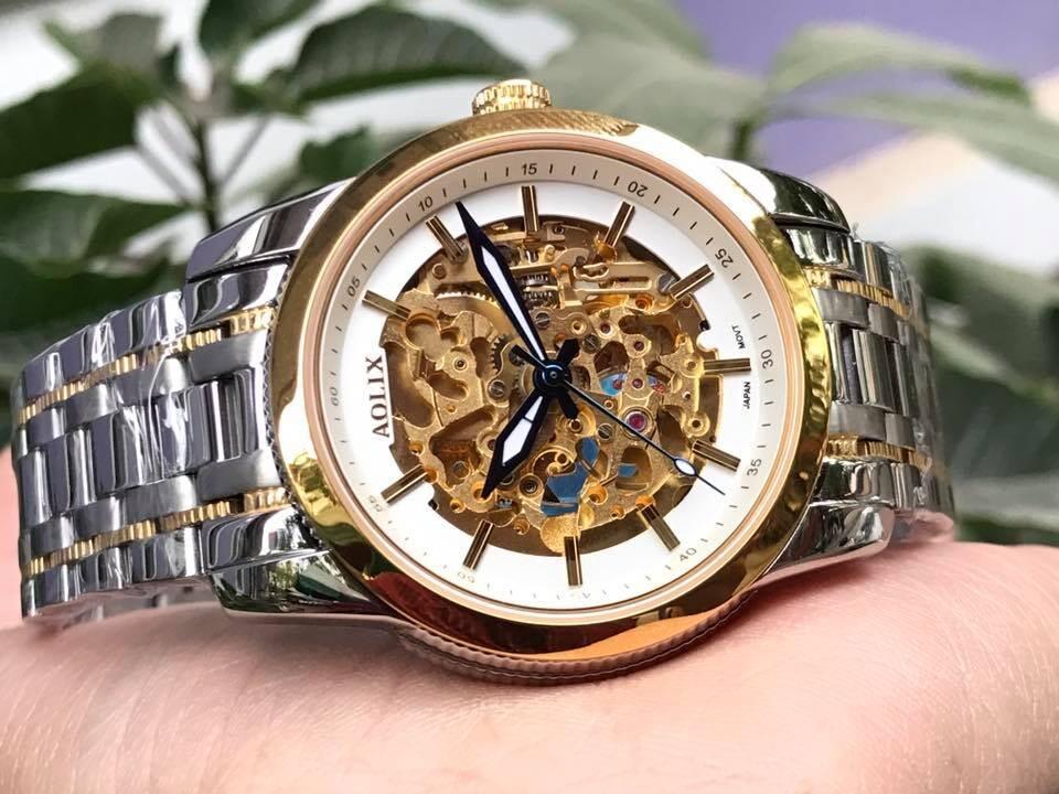 Đồng hồ nam tự động chính hãng Aolix al 3021m - mskt