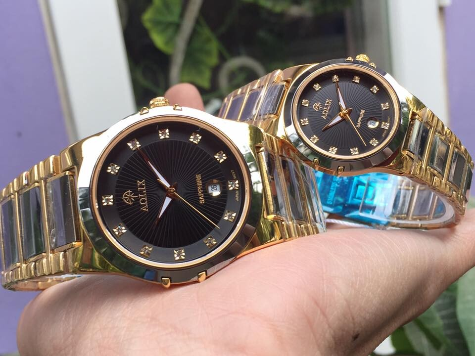 đồng hồ cặp đôi chính hãng aolix al 6824 - mckd