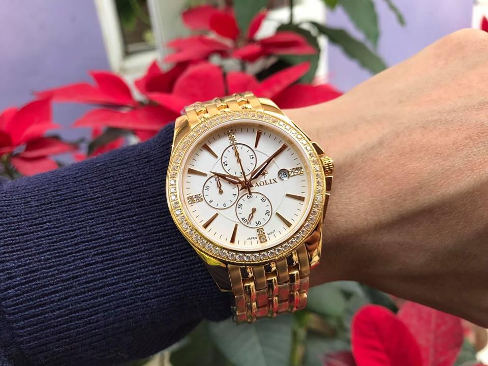 Đồng hồ nam chính hãng aolix al 7036g - mkt