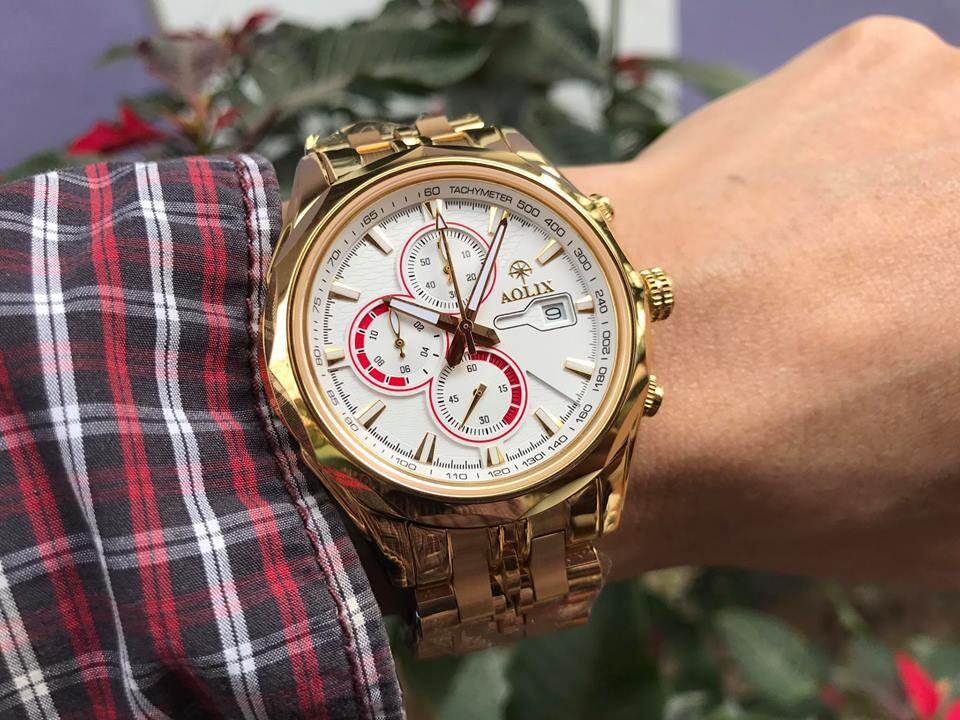 Đồng hồ nam chính hãng Aolix al 7048g - mdkt