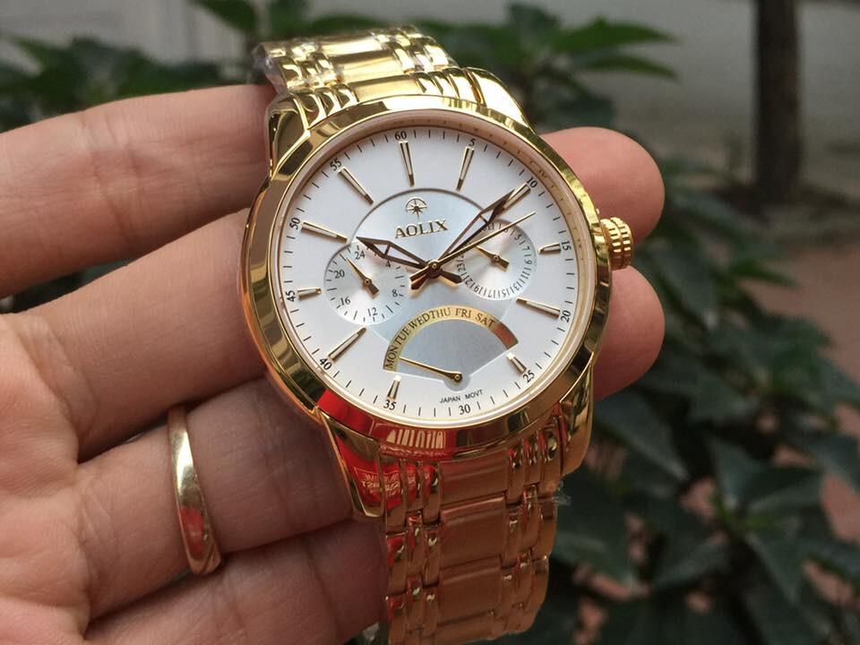 đồng hồ nam chính hãng aolix al 7061g - mkt