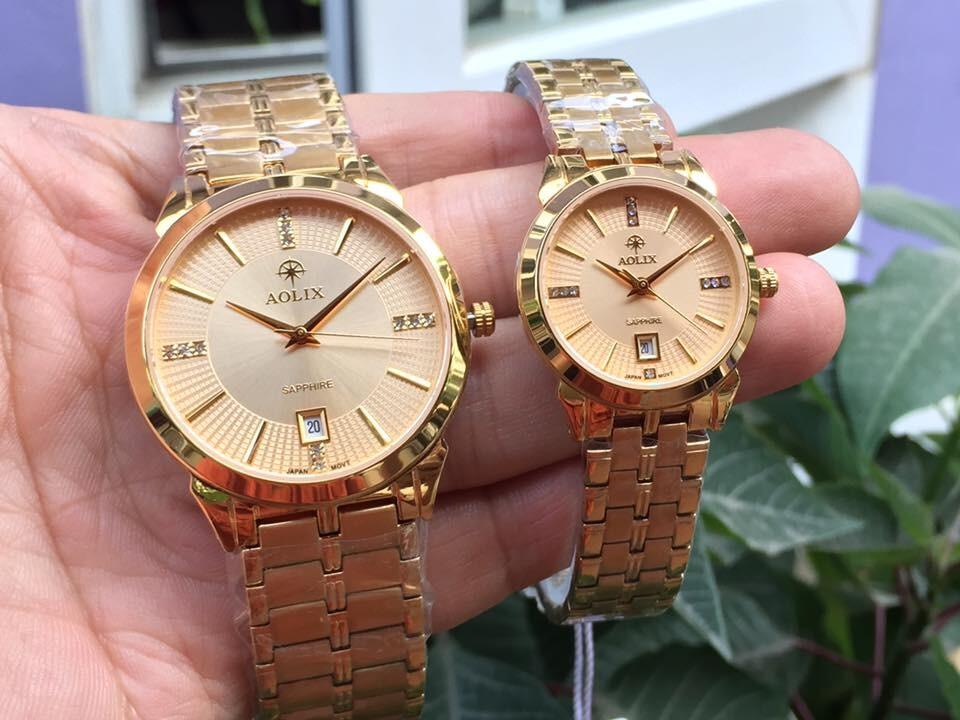 Đồng hồ cặp đôi chính hãng aolix al 9094g - mkv