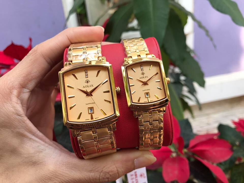 Đồng hồ cặp đôi chính hãng Aolix al 9099 - mkv
