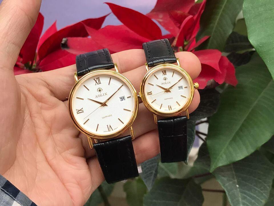 Đồng hồ cặp đôi chính hãng aolix al 9100 - mlkt