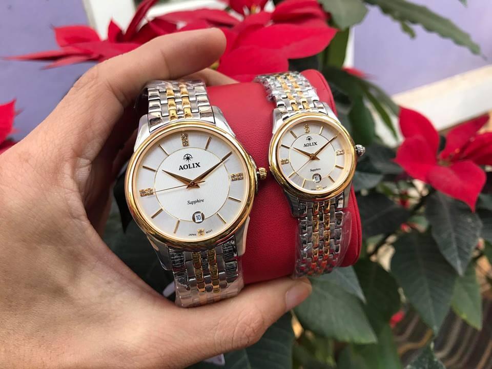 Đồng hồ cặp đôi chính hãng Aolix al 9134g - mskt