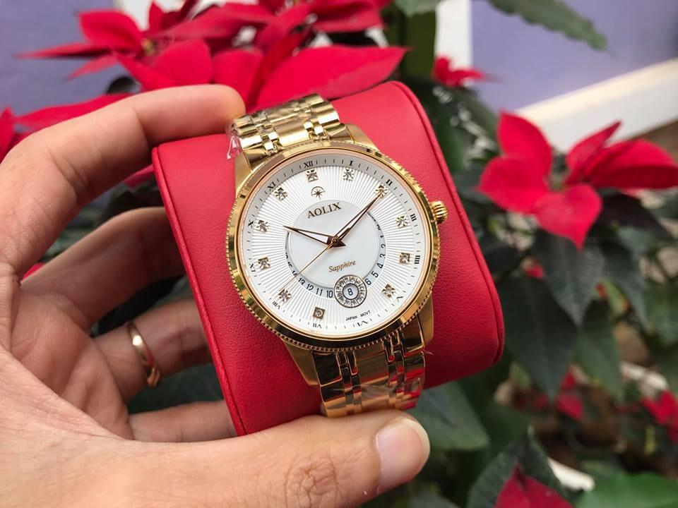 Đồng hồ cặp đôi chính hãng Aolix al9136g - mkt