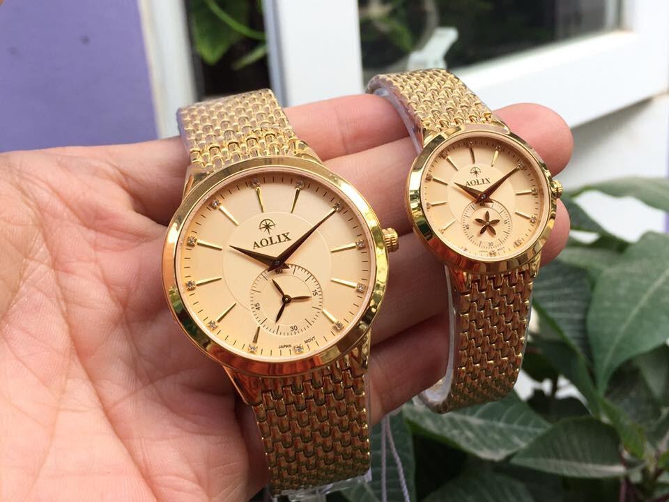 Đồng hồ cặp đôi chính hãng Aolix al 9139 - mkv