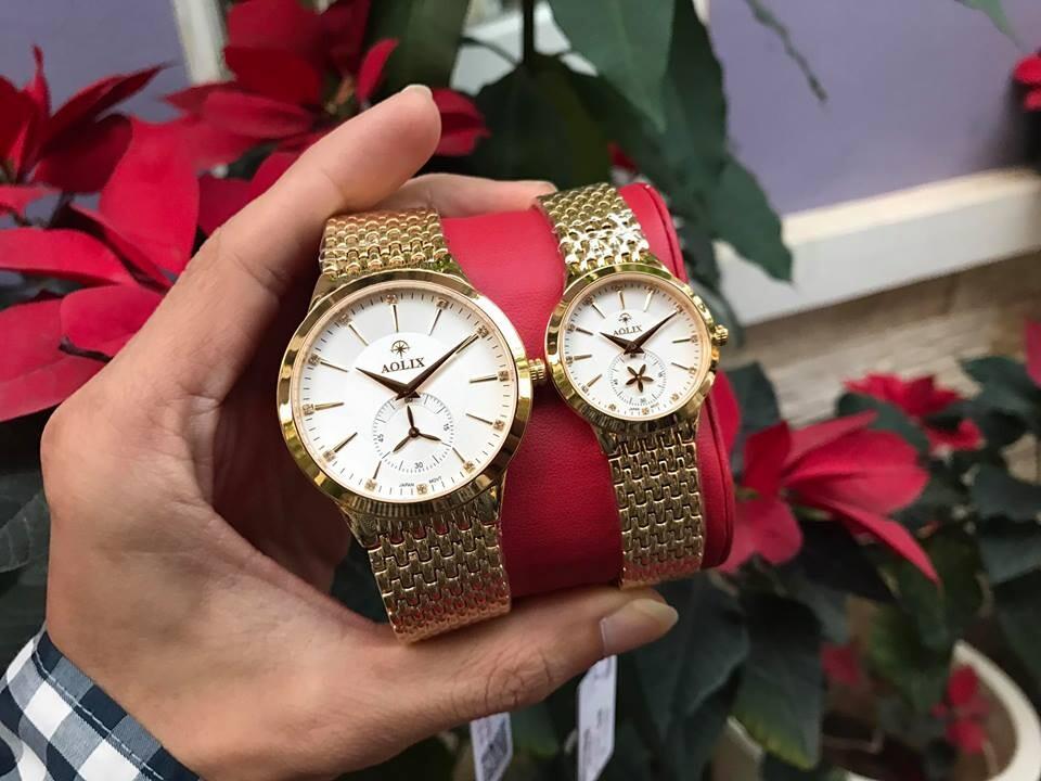 Đồng hồ cặp đôi chính hãng aolix al 9139 - mkt