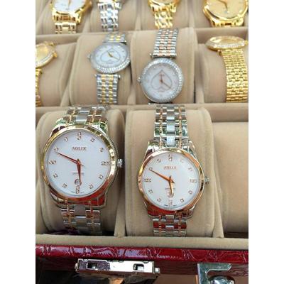 Đồng hồ cặp đôi chính hãng Aolix AL 9140L - SG7A rose gold