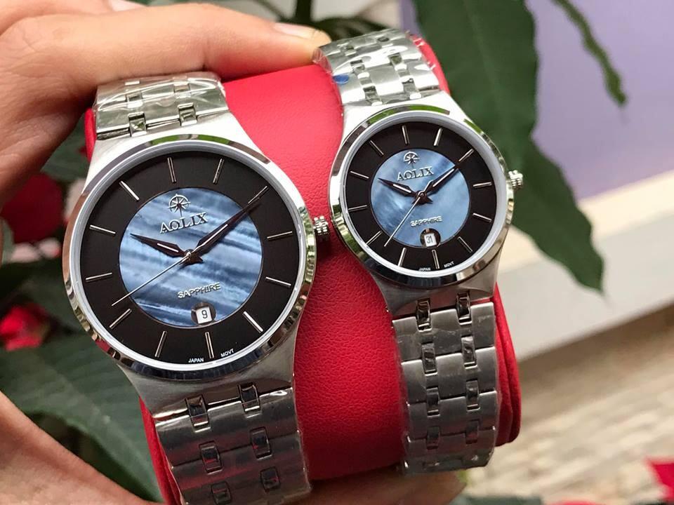 đồng hồ cặp đôi chính hãng aolix al 9154 - mssd | hieutin.com
