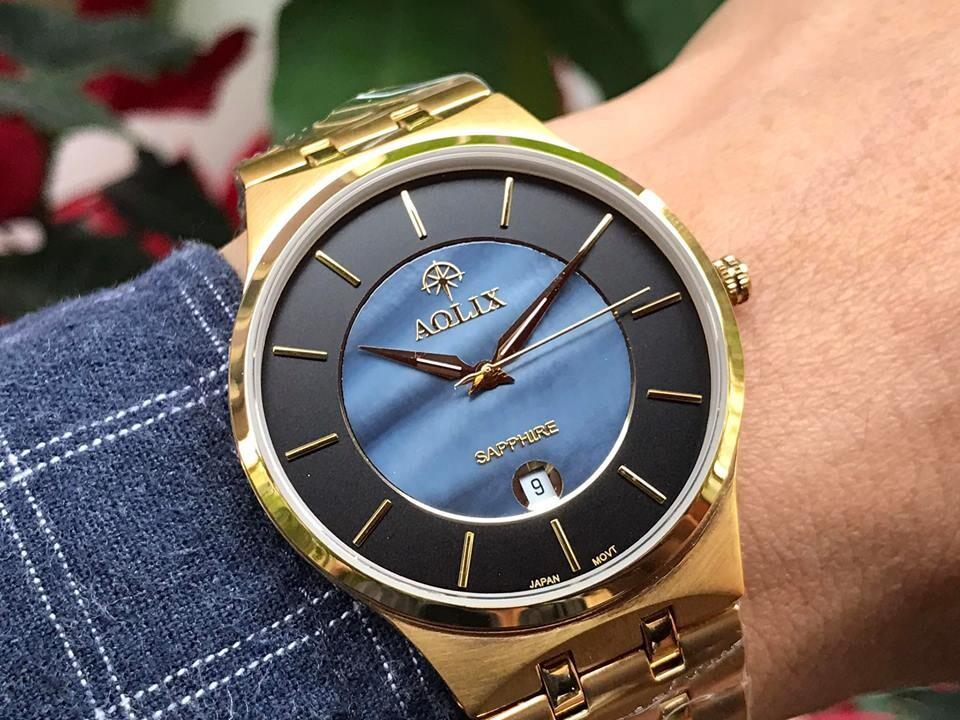 đồng hồ nam chính hãng aolix al 9154g - mkd