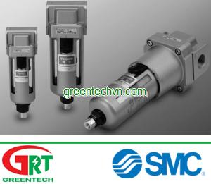 Separator and drain 200 - 500 L/min, max. 1 MPa   AMJ series   SMC Vietnam   SMC Thiết bị