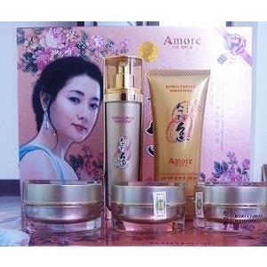 AMORE bộ mỹ phẩm đặc trị nám, tàn nhang, dưỡng trắng da Hàn Quốc. bộ 5in1