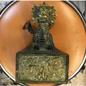 Ấn rồng kim tỷ cao 20cm bằng đồng giả cổ