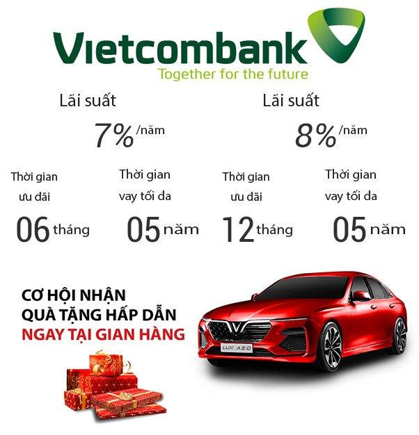 Lãi suất cho vay mua xe trả góp của ngân hàng TechcomBank 2019   Ô tô VinFast Thảo Điền