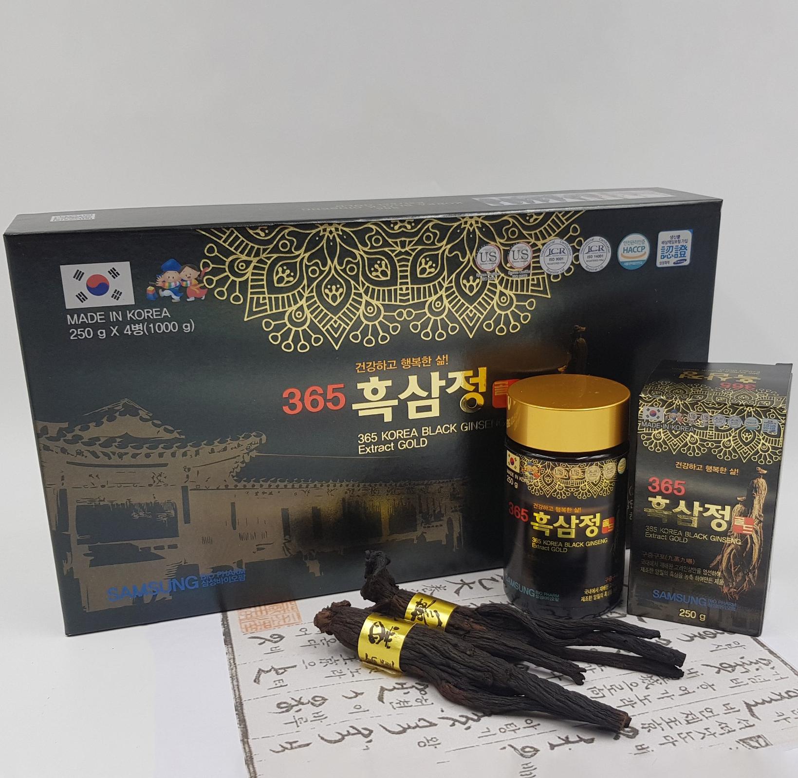 THỰC PHẨM BỔ SUNG CHIẾT XUẤT HẮC SÂM HÀN QUỐC 365 365 KOREA BLACK GINSENG EXTRACT GOLD