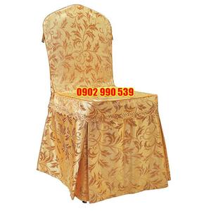 Áo ghế nhà hàng vải gấm