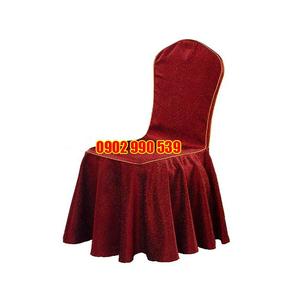 Áo ghế nhà hàng vải gấm đỏ