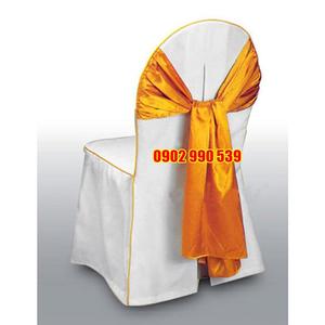 Áo ghế nhà hàng vải Kaki