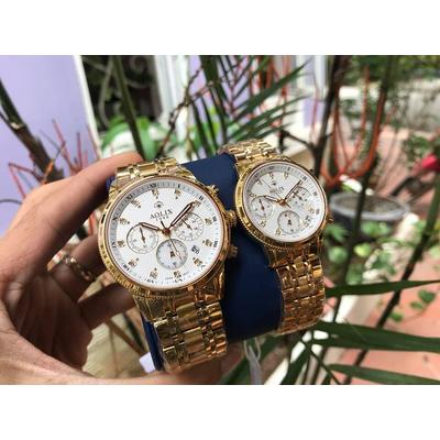 Đồng hồ cặp đôi chính hãng Aolix al 7069g - mkt