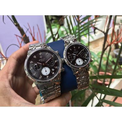 Đồng hồ cặp đôi chính hãng Aolix al 7069g - msd