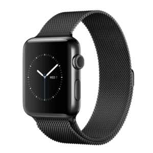 Apple Watch SR1, 38mm, mặt thép không gỉ, dây thép Milan màu đen