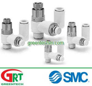 Ball check valve / threaded / pilot-operated ASP | Van tiết lưu SMC | SMC Vietnam | SMC