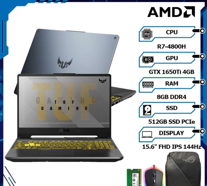 ASUS TUF Gaming A15 FA506II-AL016T (R7-4800H | 8GB | 512GB | VGA GTX 1650Ti | 15.6 144hz NEW-FPT